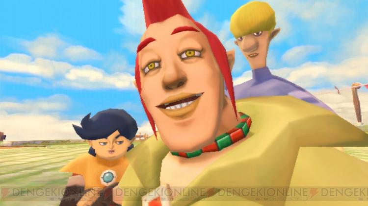 Groose, o rival de Link, e seus capangas, Cawlin e Stritch.