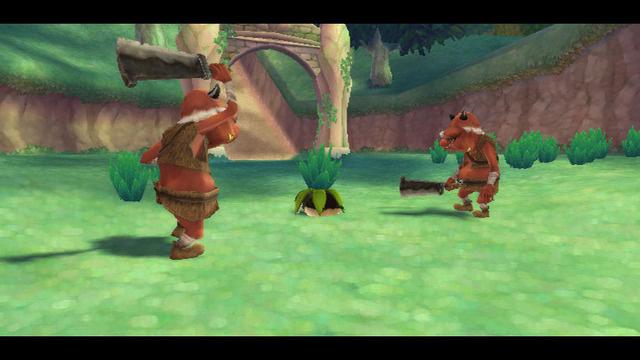 Os Bokoblins ameaçando um pobre Kikwi. :(