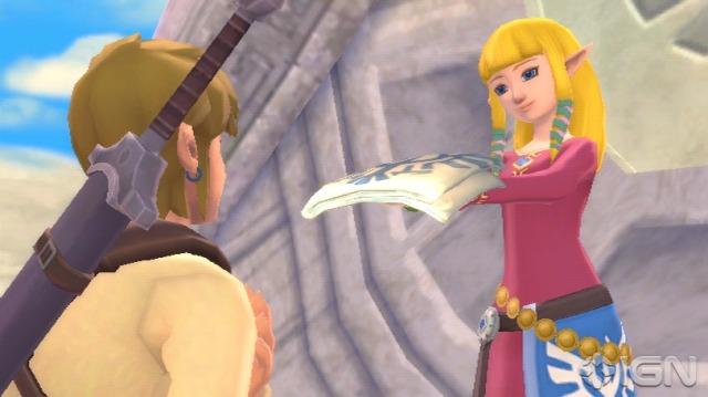 Zelda entregando uma carta para Link. Eu acho que já vi isso antes...