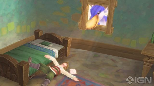 Parece que Link começa o jogo dormindo como sempre (Spirit Tracks, Phantom Hourglass)... Eu só não entendi uma coisa. Parece que o passara de Zelda entregou uma carta a Link, então como em outra foto vemos o que parece ser Zelda entregando (outra?) uma carta para Link tambem?