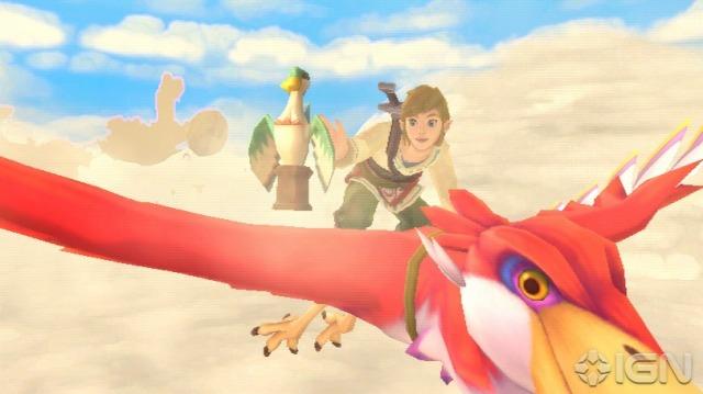 Link pegando a Gold Estatue (ou alguma coisa do tipo) na corrida do começo do jogo.