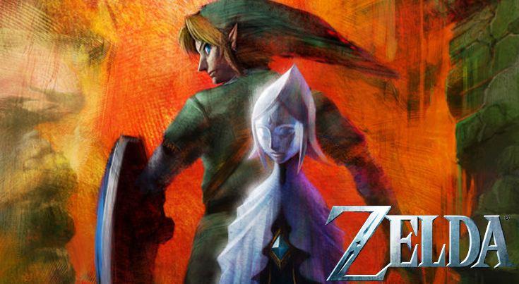 Essa imagem é uma artwork feita antes mesmo do lançamento de Skyward Sword, por isso ela tem esse estilo diferente
